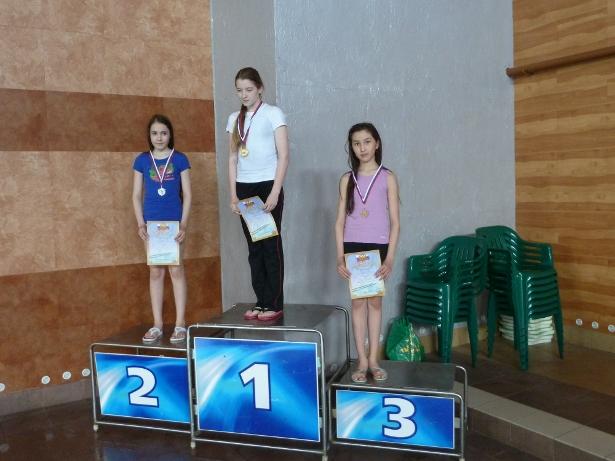 Андрейчук Настя -2 место и Кульбаева Адина - 3 место