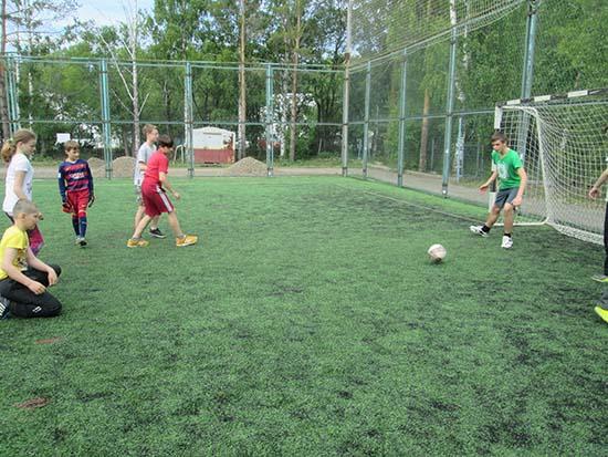 первенство лагеря по футболу