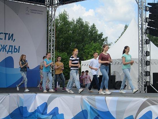 репетиция к Дню города, открытие фонтана молодости