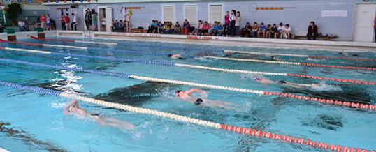 Новогодние соревнования по подводному спорту на призы Деда Мороза среди групп начальной подготовки.