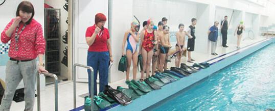 Соревнования  по плаванию в ластах, посвященные «Дню защитника Отечества»